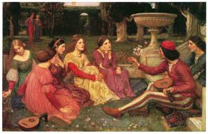 ジョン・ウィリアム・ウォーターハウス – デカメロンの物語 [J.W. Waterhouseより]のサムネイル画像