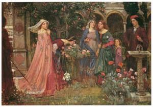 ジョン・ウィリアム・ウォーターハウス – 魔法の庭 [J.W. Waterhouseより]のサムネイル画像