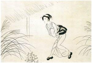 小村雪岱 – おせん(駆ける) [版画芸術 146号より]のサムネイル画像