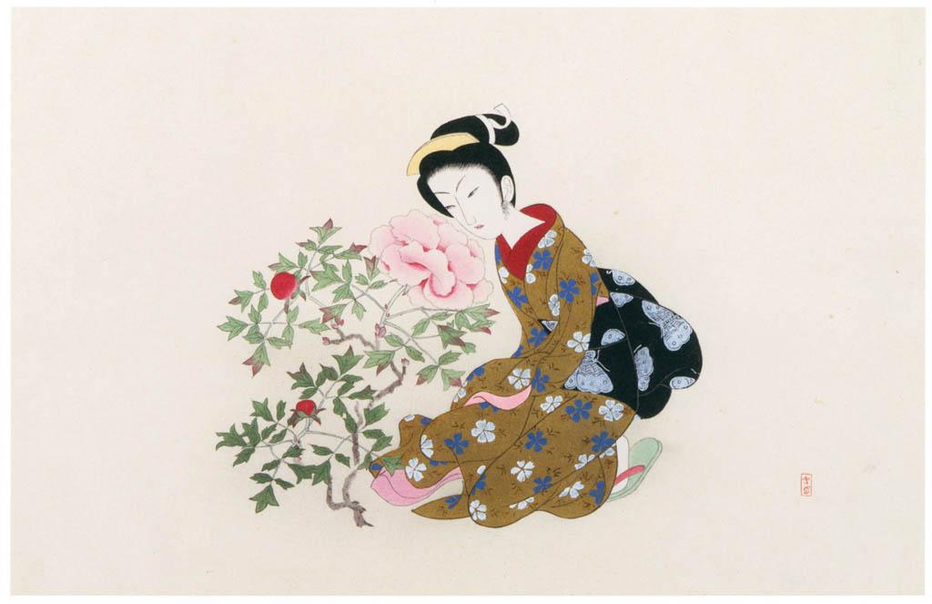 Komura Settai – Peony [from Hanga Geijutsu No.146]