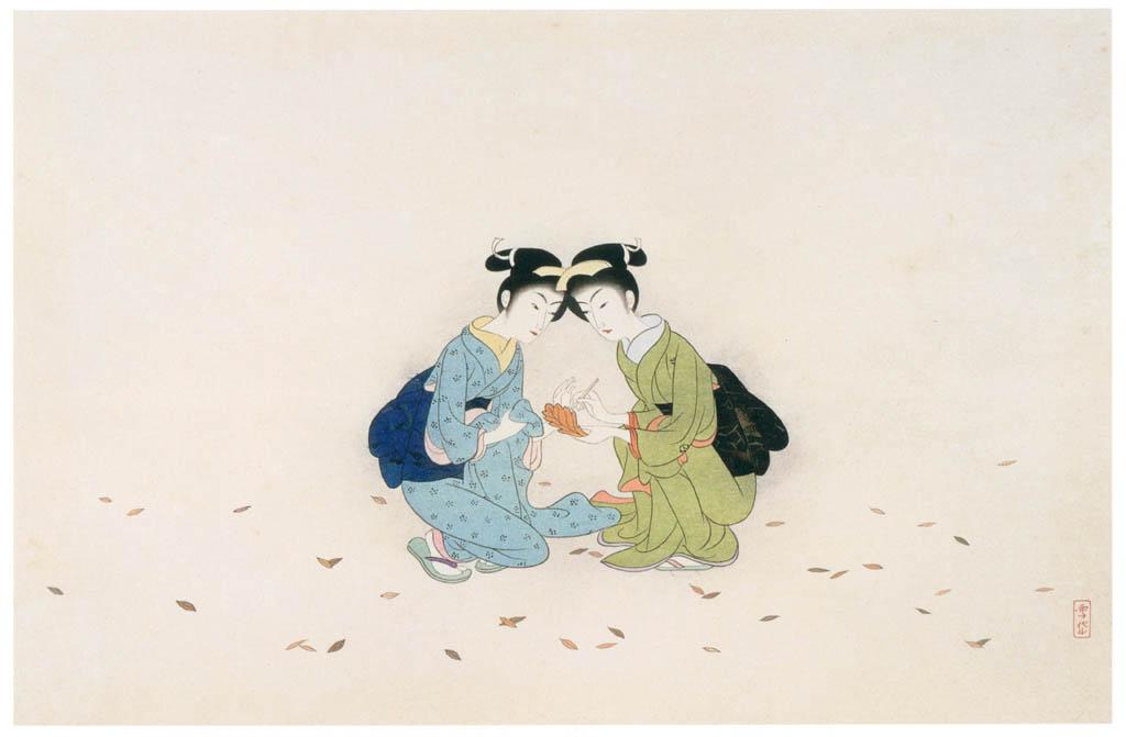 Komura Settai – Hanshan Shide Likened to Two Women [from Hanga Geijutsu No.146]