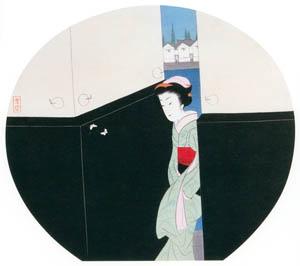 小村雪岱 – 河岸 [版画芸術 146号より]のサムネイル画像