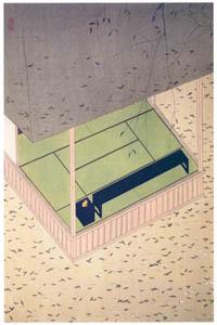 小村雪岱 – 落葉 [版画芸術 146号より]のサムネイル画像