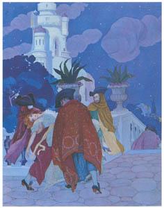 thumbnail Umberto Brunelleschi – Tavola per Contes du Temps Jadis [from Umberto Brunelleschi Illustrazioni 1930-1949]