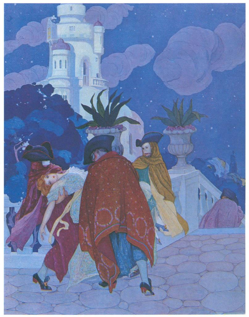 Umberto Brunelleschi – Tavola per Contes du Temps Jadis [from Umberto Brunelleschi Illustrazioni 1930-1949]
