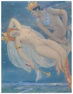 ウンベルト・ブルネレスキ – ウィリアム・シェイクスピアの喜劇「夏の夜の夢」の挿絵のスケッチ [Umberto Brunelleschi Illustrazioni 1930-1949より]のサムネイル画像