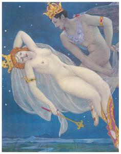 ウンベルト・ブルネレスキ – ウィリアム・シェイクスピアの喜劇「夏の夜の夢」の挿絵 [Umberto Brunelleschi Illustrazioni 1930-1949より]のサムネイル画像
