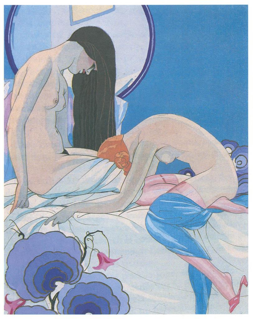 Umberto Brunelleschi – Tavola per Les Aventures du Roi Pausole di P. Louys [from Umberto Brunelleschi Illustrazioni 1930-1949]