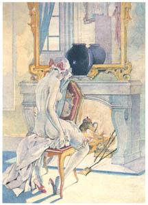 thumbnail Umberto Brunelleschi – Tavola per La Legon d'Amour dans un Parc di R. Boylesve [from Umberto Brunelleschi Illustrazioni 1930-1949]