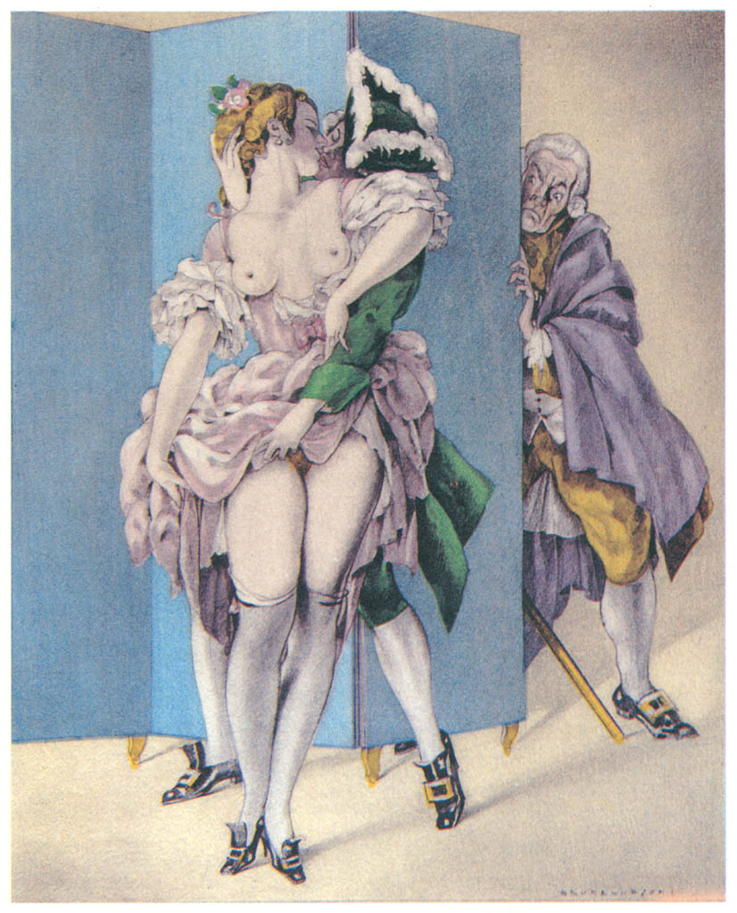 Umberto Brunelleschi – Tavola per Candide di Voltaire [from Umberto Brunelleschi Illustrazioni 1930-1949]