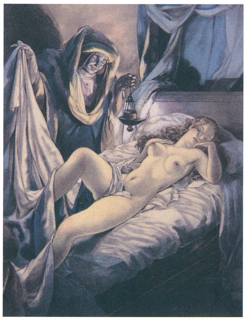 Umberto Brunelleschi – Tavola per Les Contes de Boccace 1 [from Umberto Brunelleschi Illustrazioni 1930-1949]