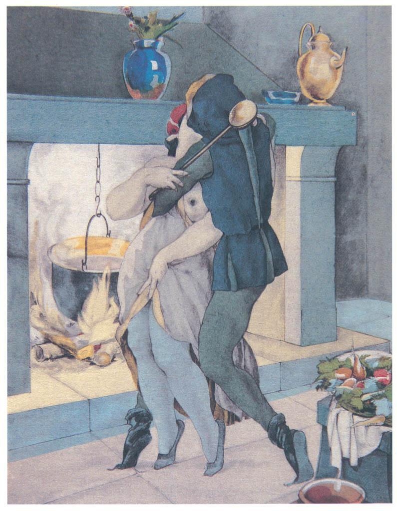 Umberto Brunelleschi – Tavola per Les Contes de Boccace 2 [from Umberto Brunelleschi Illustrazioni 1930-1949]