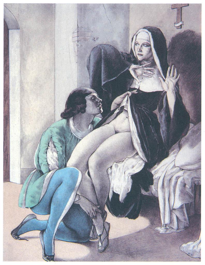 Umberto Brunelleschi – Tavola per Les Contes de Boccace 4 [from Umberto Brunelleschi Illustrazioni 1930-1949]