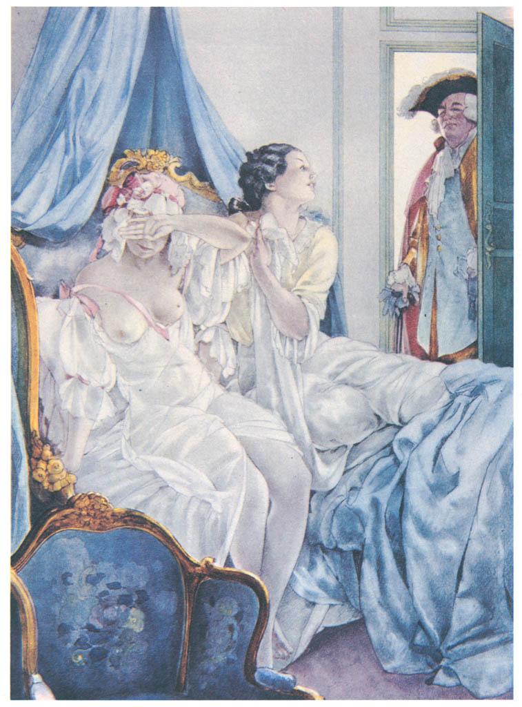 Umberto Brunelleschi – Tavola per Histoire du Chevalier des Grieux et de Manon Lescaut di A. F. Prévost 2 [from Umberto Brunelleschi Illustrazioni 1930-1949]
