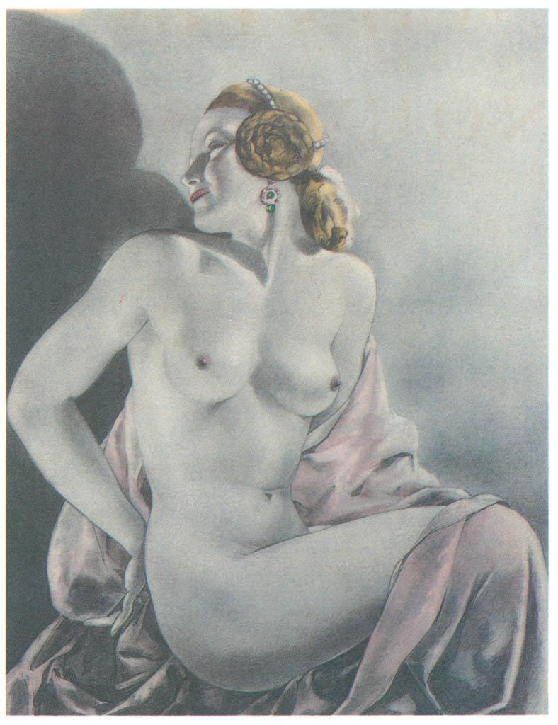 Umberto Brunelleschi – Tavola per Contes et Nouvelles di J. de la Fontaine 1 [from Umberto Brunelleschi Illustrazioni 1930-1949]