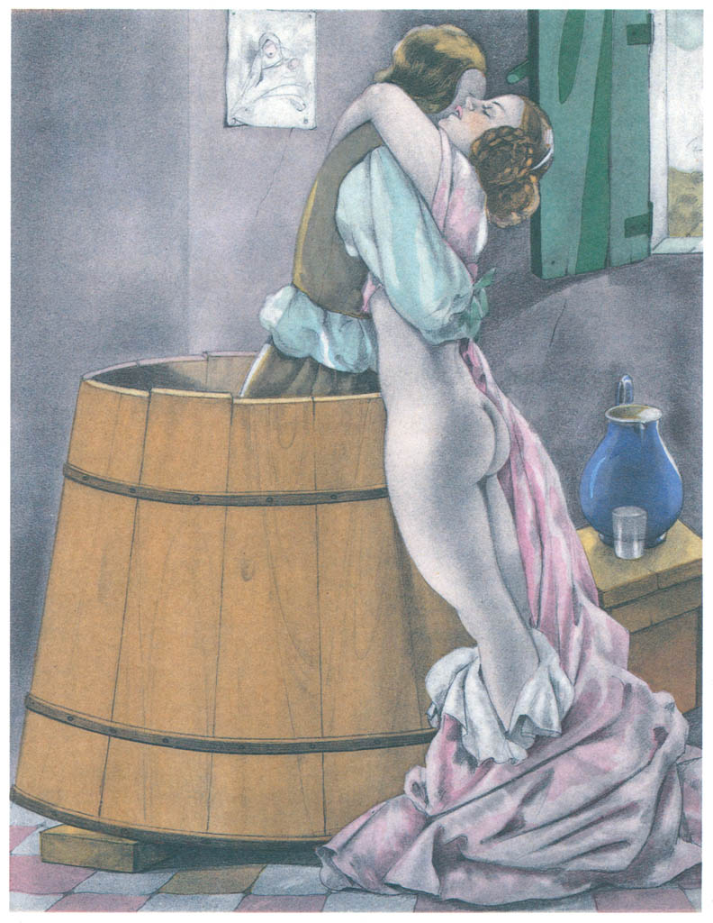 Umberto Brunelleschi – Tavola per Contes et Nouvelles di J. de la Fontaine 6 [from Umberto Brunelleschi Illustrazioni 1930-1949]