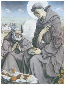 ウンベルト・ブルネレスキ – アッシジの聖フランチェスコの小さな花の挿絵 [Umberto Brunelleschi Illustrazioni 1930-1949より]のサムネイル画像