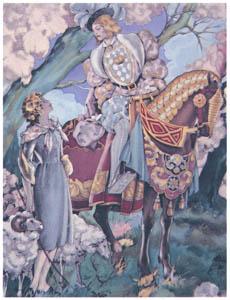ウンベルト・ブルネレスキ – シャルル・ペローの童話集の挿絵 2 [Umberto Brunelleschi Illustrazioni 1930-1949より]のサムネイル画像