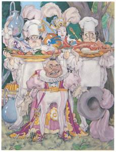 ウンベルト・ブルネレスキ – シャルル・ペローの童話集の挿絵 5 [Umberto Brunelleschi Illustrazioni 1930-1949より]のサムネイル画像