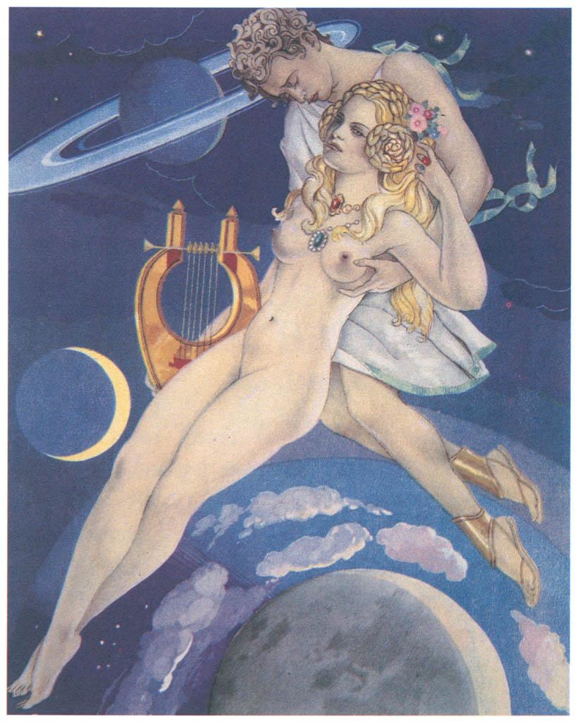 Umberto Brunelleschi – Tavola per Les Baisers di Dorat 3 [from Umberto Brunelleschi Illustrazioni 1930-1949]