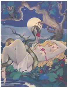 thumbnail Umberto Brunelleschi – Tavola per Le Songe d'une Nuit d'Eté di W. Shakespeare 2 [from Umberto Brunelleschi Illustrazioni 1930-1949]