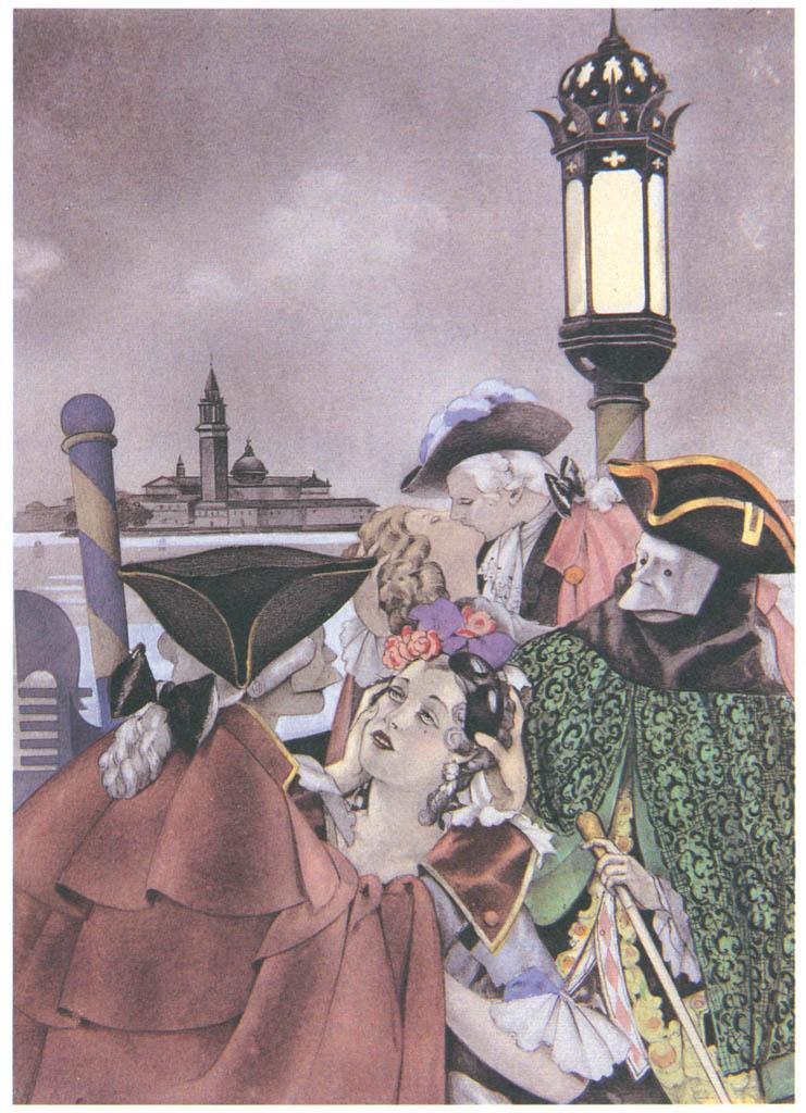 Umberto Brunelleschi – Tavola per Mémoires di G.G. Casanova 1 [from Umberto Brunelleschi Illustrazioni 1930-1949]