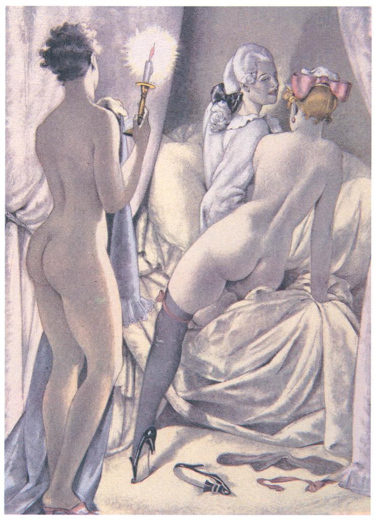 Umberto Brunelleschi – Tavola per Mémoires di G.G. Casanova 2 [from Umberto Brunelleschi Illustrazioni 1930-1949]