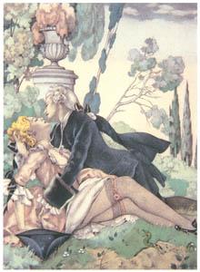 ウンベルト・ブルネレスキ – ジャコモ・カサノヴァ著「回想録」の挿絵 3 [Umberto Brunelleschi Illustrazioni 1930-1949より]のサムネイル画像