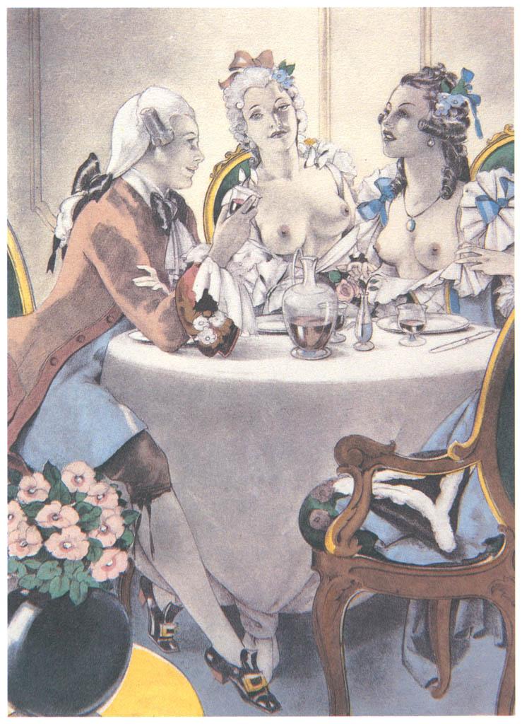 Umberto Brunelleschi – Tavola per Mémoires di G.G. Casanova 8 [from Umberto Brunelleschi Illustrazioni 1930-1949]