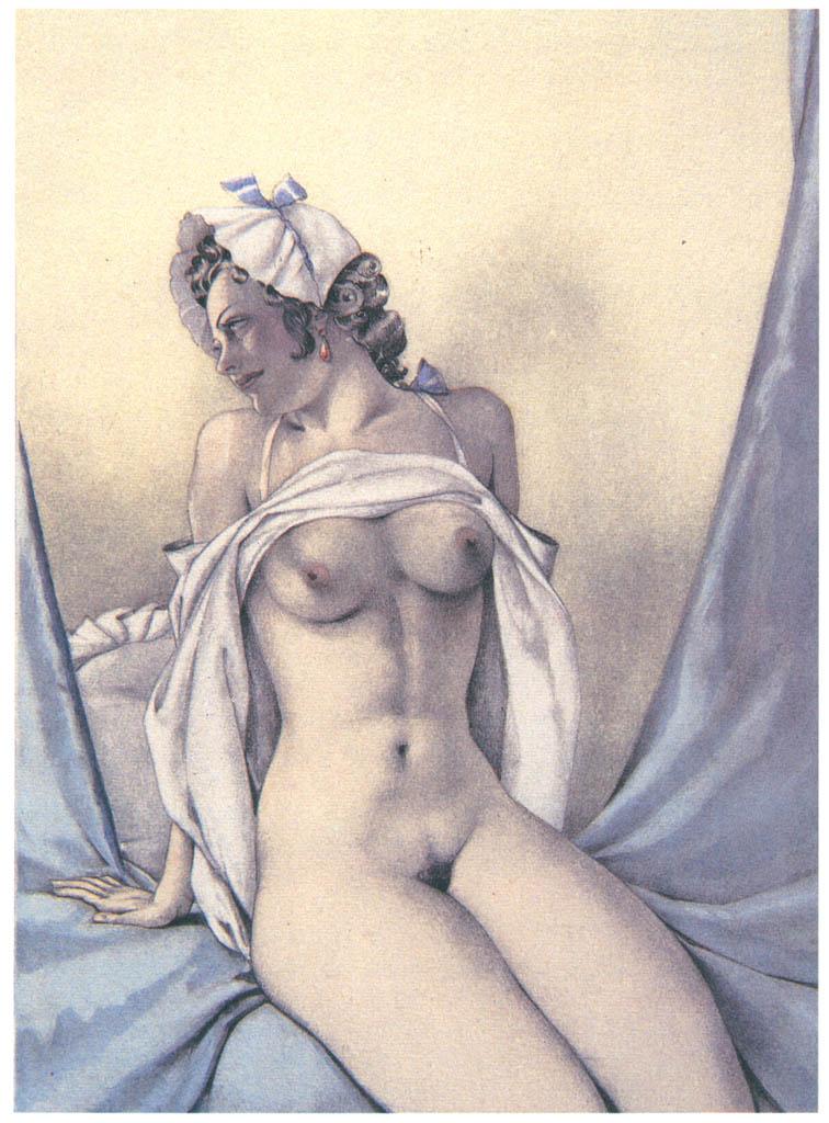 Umberto Brunelleschi – Tavola per Mémoires di G.G. Casanova 9 [from Umberto Brunelleschi Illustrazioni 1930-1949]