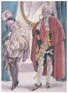 ウンベルト・ブルネレスキ – ジャコモ・カサノヴァ著「回想録」の挿絵 11 [Umberto Brunelleschi Illustrazioni 1930-1949より]のサムネイル画像