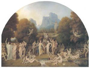 ジャン=オーギュスト=ドミニク・アングル – 黄金時代 [ウィンスロップ・コレクション フォッグ美術館所蔵19世紀イギリス・フランス絵画 より]のサムネイル画像