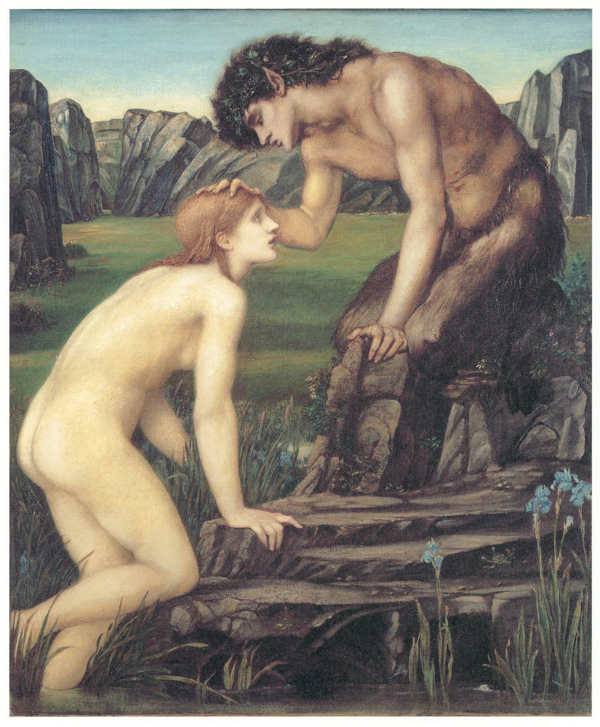 Edward Burne-Jones – Pan and Psyche [from Winthrop Collection of the Fogg Art Museum]