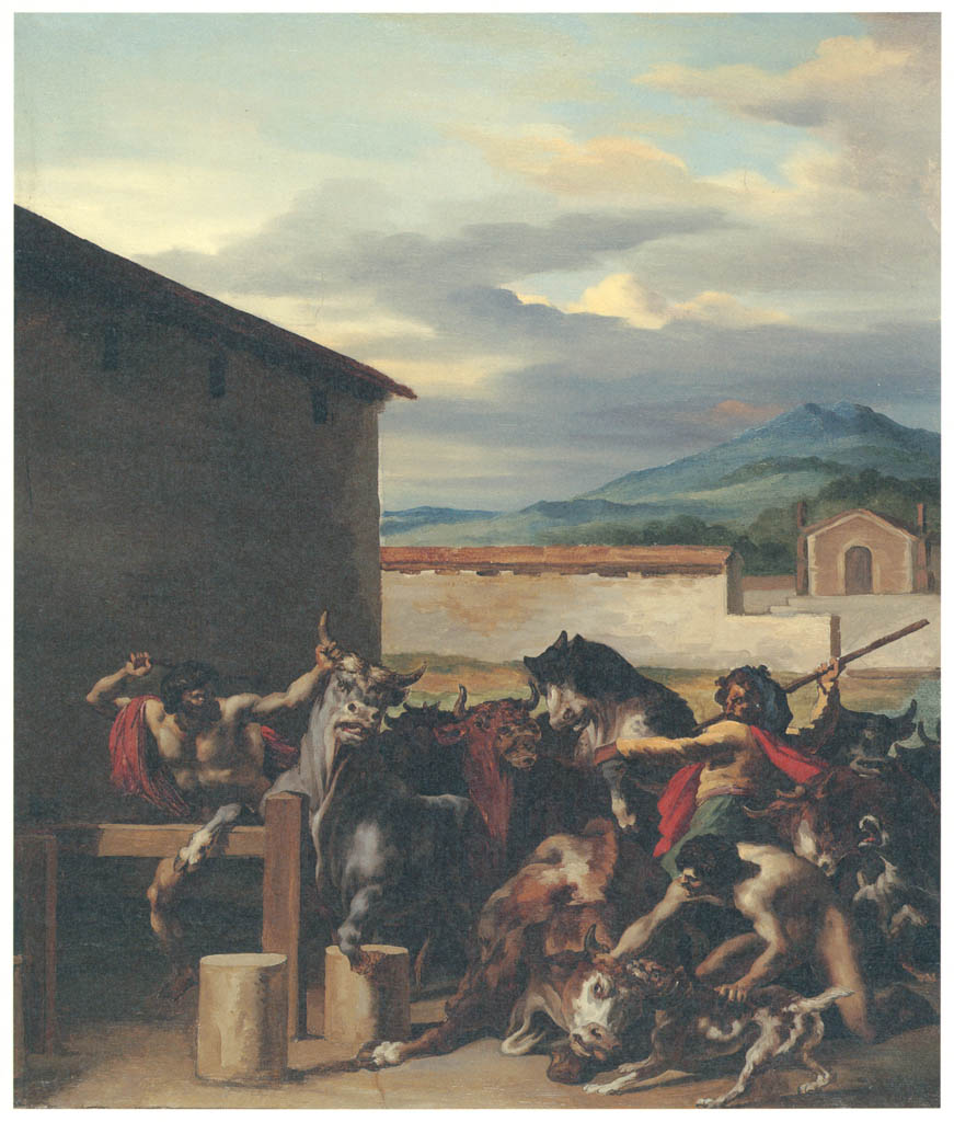 Théodore Géricault – The Bull Market [from Winthrop Collection of the Fogg Art Museum]