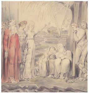 ウィリアム・ブレイク – バビロンの水辺にて [ウィンスロップ・コレクション フォッグ美術館所蔵19世紀イギリス・フランス絵画 より]のサムネイル画像