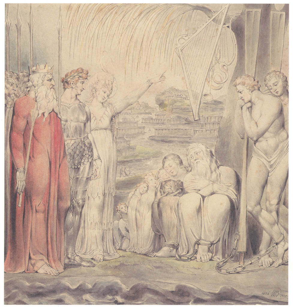 William Blake – By the Waters of Babylon [from Winthrop Collection of the Fogg Art Museum]