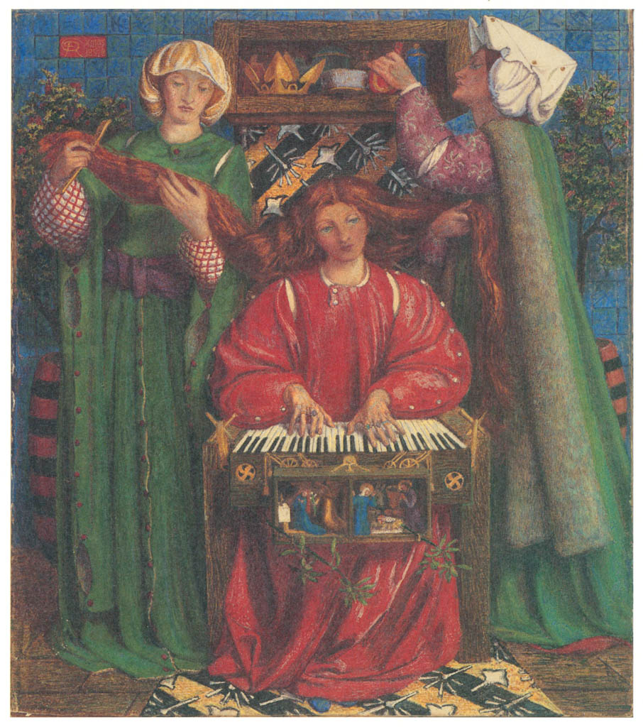 Dante Gabriel Rossetti – A Christmas Carol [from Winthrop Collection of the Fogg Art Museum]