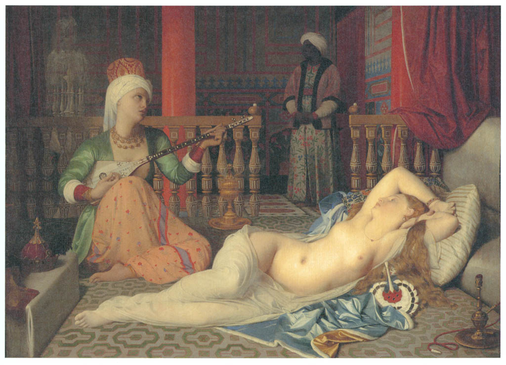 Jean-Auguste-Dominique Ingres – Odalisque with a Slave [from Winthrop Collection of the Fogg Art Museum]