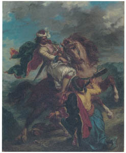 thumbnail Eugène Delacroix – A Turk Surrenders to a Greek Horseman [from Winthrop Collection of the Fogg Art Museum]