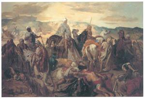テオドール・シャセリオー – 仲間の死体を運ぶアラブの騎兵たち [ウィンスロップ・コレクション フォッグ美術館所蔵19世紀イギリス・フランス絵画 より]のサムネイル画像