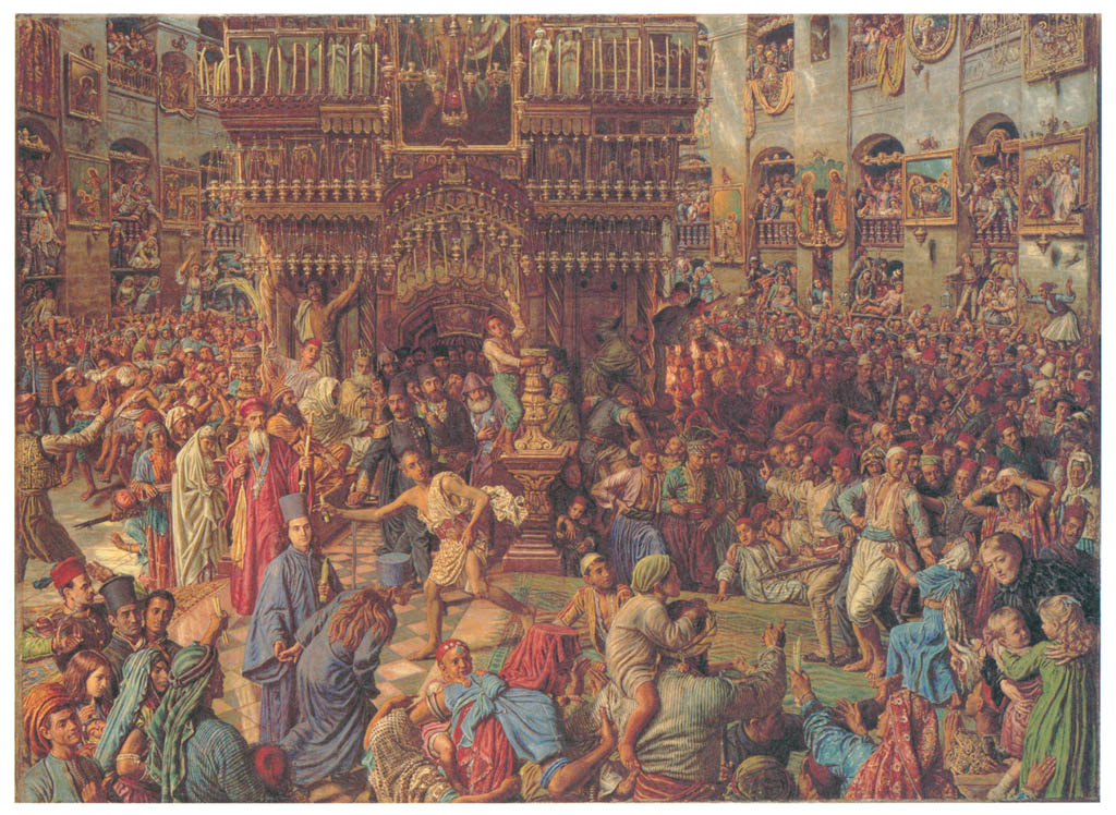 William Holman Hunt – The Miracle of the Sacred Fire, Church of the Holy Sepulchre [from Winthrop Collection of the Fogg Art Museum]