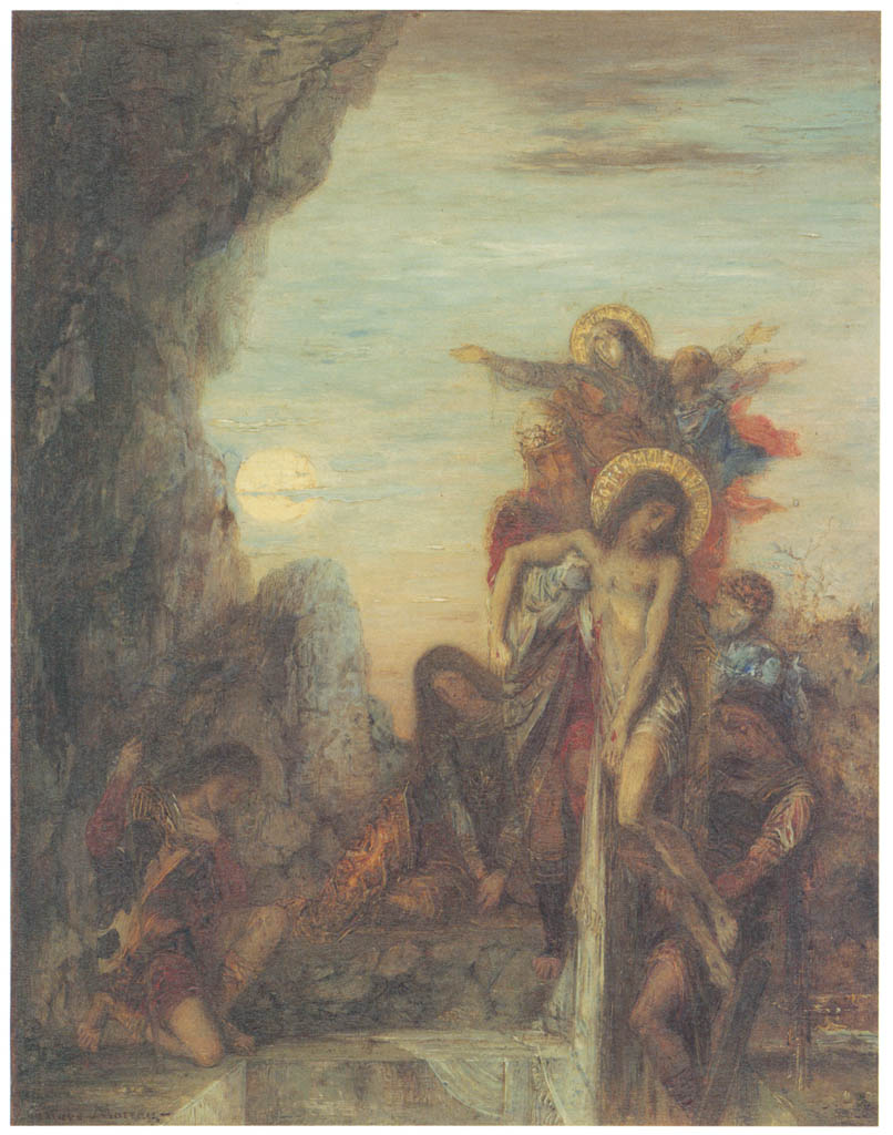 Gustave Moreau – The Entombment [from Winthrop Collection of the Fogg Art Museum]