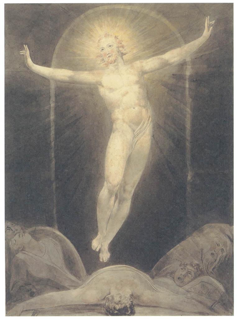 William Blake – The Resurrection [from Winthrop Collection of the Fogg Art Museum]