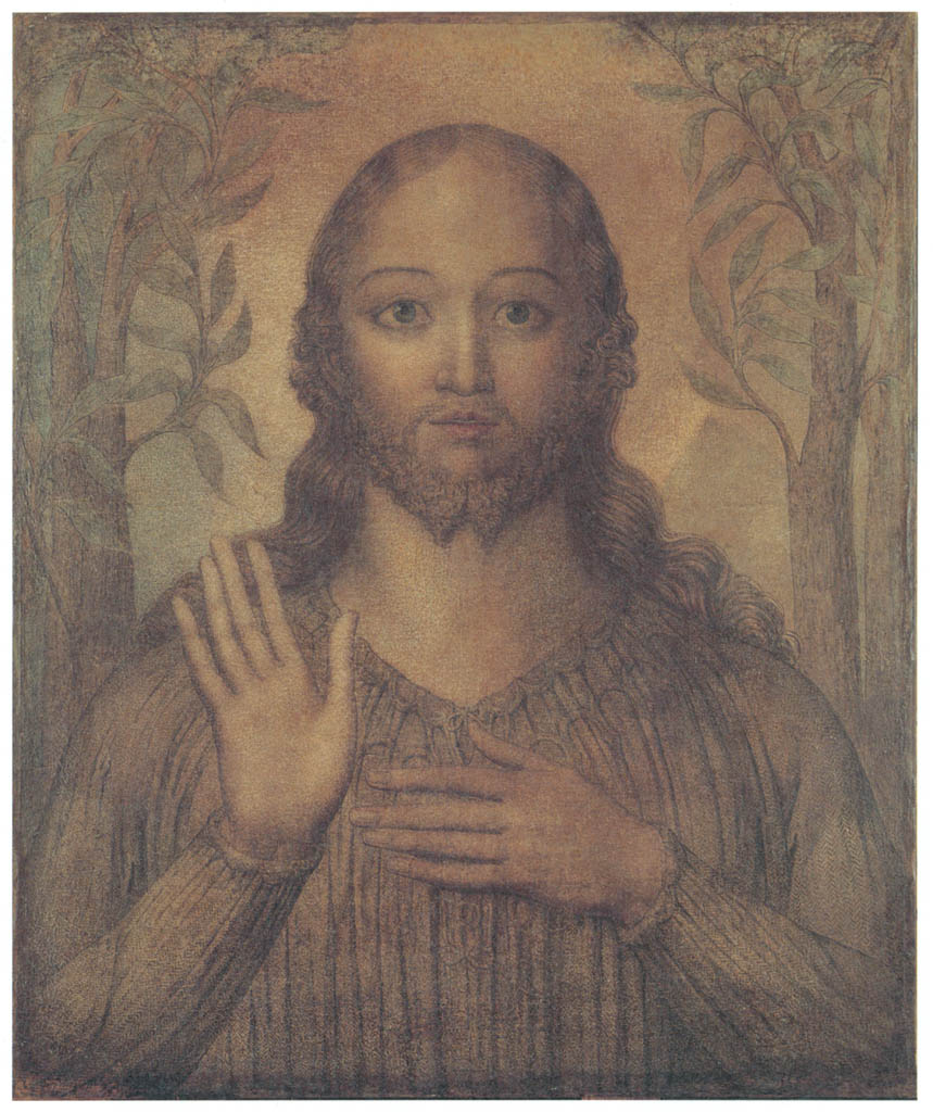 William Blake – Christ Blessing [from Winthrop Collection of the Fogg Art Museum]