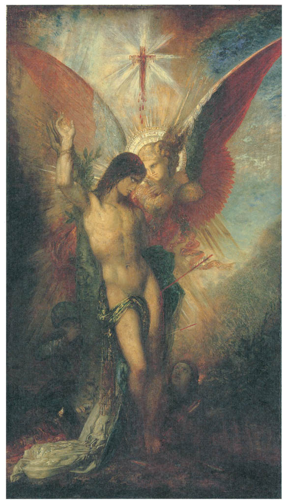 Gustave Moreau – Saint Sebastian and the Angel [from Winthrop Collection of the Fogg Art Museum]