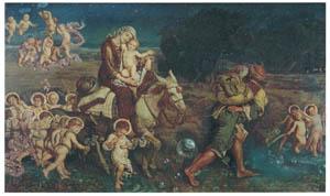 ウィリアム・ホルマン・ハント – 無垢なる幼児たちの勝利 [ウィンスロップ・コレクション フォッグ美術館所蔵19世紀イギリス・フランス絵画 より]のサムネイル画像