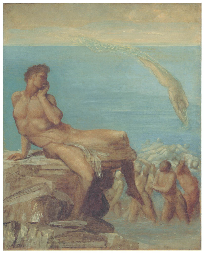 George Frederic Watts – The Genius of Greek Poetry [from Winthrop Collection of the Fogg Art Museum]