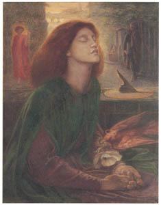 thumbnail Dante Gabriel Rossetti – Beata Beatrix [from Winthrop Collection of the Fogg Art Museum]