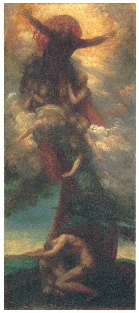 George Frederic Watts – The Denunciation of Adam and Eve [from Winthrop Collection of the Fogg Art Museum]