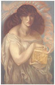 ダンテ・ゲイブリエル・ロセッティ – パンドラ [ウィンスロップ・コレクション フォッグ美術館所蔵19世紀イギリス・フランス絵画 より]のサムネイル画像